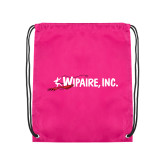 Pink Drawstring Backpack-Wipaire Inc