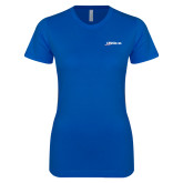 Next Level Ladies SoftStyle Junior Fitted Royal Tee-Wipaire Inc