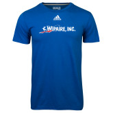 Adidas Climalite Royal Ultimate Performance Tee-Wipaire Inc