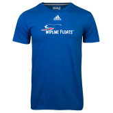 Adidas Climalite Royal Ultimate Performance Tee-Wipline Floats
