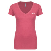 Next Level Ladies Vintage Pink Tri Blend V Neck Tee-Wipline Floats