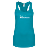 Next Level Ladies Tahiti Blue Ideal Racerback Tank-Wipline Floats