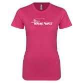 Ladies SoftStyle Junior Fitted Fuchsia Tee-Wipline Floats