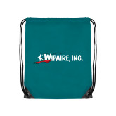 Teal Drawstring Backpack-Wipaire Inc