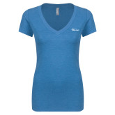 Next Level Ladies Vintage Turquoise Tri Blend V Neck Tee-Wipline Floats