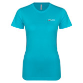 Next Level Ladies SoftStyle Junior Fitted Ice Blue Tee-Wipaire Inc
