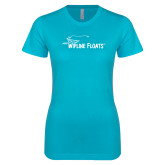 Next Level Ladies SoftStyle Junior Fitted Ice Blue Tee-Wipline Floats