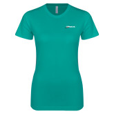 Next Level Ladies SoftStyle Junior Fitted Tahiti Blue Tee-Wipaire Inc