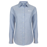 Ladies Light Blue Oxford Shirt-Wipline Floats