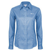 Ladies Red House Light Blue Long Sleeve Shirt-Wipline Floats
