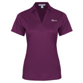 Ladies Purple Performance Fine Jacquard Polo-Wipline Floats