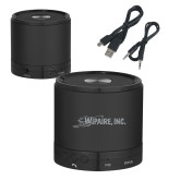 Wireless HD Bluetooth Black Round Speaker-Wipaire Inc Engraved