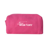Small Hot Pink Waffle Cosmetic Bag-Wipline Floats
