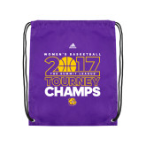 Purple Drawstring Backpack-2017 Womens Basketball Tourney Champs