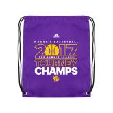 Purple Drawstring Backpack-2017 Womens Basketball Tourney Champs