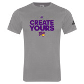 Adidas Sport Grey Logo T Shirt-Create Yours