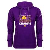 Adidas Climawarm Purple Team Issue Hoodie-2017 Womens Basketball Tourney Champs
