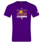 Adidas Purple Logo T Shirt-2017 Womens Basketball Tourney Champs
