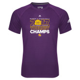 Adidas Climalite Purple Ultimate Performance Tee-2017 Womens Basketball Tourney Champs