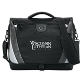 Slope Black/Grey Compu Messenger Bag-Wisconsin Lutheran College Stacked