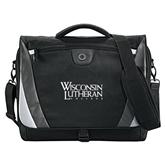 Slope Black/Grey Compu Messenger Bag-Wisconsin Lutheran College Stacked