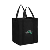 Non Woven Black Grocery Tote-WLC Diagonal w/ Sword