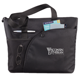 Excel Black Sport Utility Tote-Wisconsin Lutheran College Stacked
