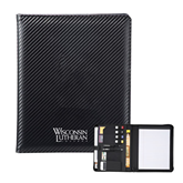 Carbon Fiber Tech Padfolio-Wisconsin Lutheran College Stacked
