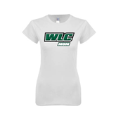 Next Level Ladies SoftStyle Junior Fitted White Tee-Mom - WLC