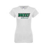 Next Level Ladies SoftStyle Junior Fitted White Tee-Alumni - WLC