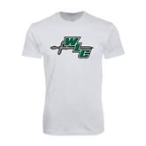 Next Level SoftStyle White T Shirt-WLC Diagonal w/ Sword
