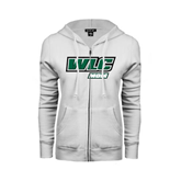 ENZA Ladies White Fleece Full Zip Hoodie-Mom - WLC