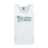 White Tank Top-Wisconsin Lutheran College Stacked