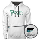 Contemporary Sofspun White Hoodie-Wisconsin Lutheran College Stacked