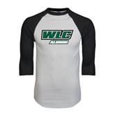 White/Black Raglan Baseball T-Shirt-Alumni - WLC