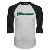 White/Black Raglan Baseball T-Shirt-Warriors