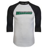 White/Black Raglan Baseball T-Shirt-Wisconsin Lutheran College Warriors