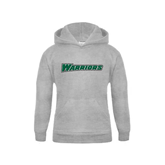 Youth Grey Fleece Hood-Warriors