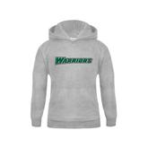 Youth Grey Fleece Hood-Warriors