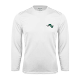Syntrel Performance White Longsleeve Shirt-WLC Diagonal w/ Sword