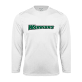 Syntrel Performance White Longsleeve Shirt-Warriors