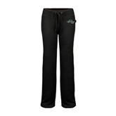 ENZA Ladies Black Fleece Pant-WLC Diagonal w/ Sword