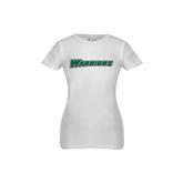 Youth Girls White Fashion Fit T Shirt-Warriors