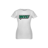 Youth Girls White Fashion Fit T Shirt-WLC w/ Sword