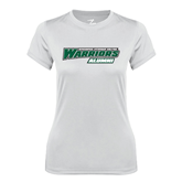 Ladies Syntrel Performance White Tee-Alumni - Wisconsin Lutheran College Warriors
