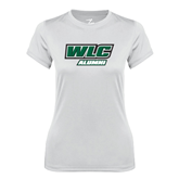 Ladies Syntrel Performance White Tee-Alumni - WLC