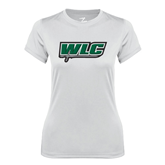 Ladies Syntrel Performance White Tee-WLC w/ Sword