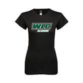 Next Level Ladies SoftStyle Junior Fitted Black Tee-Alumni - WLC