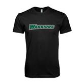 Next Level SoftStyle Black T Shirt-Warriors