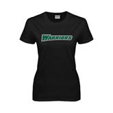 Ladies Black T Shirt-Warriors